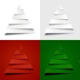 4 abstracte Kerstmisbomen Royalty-vrije Stock Foto