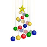 Abstracte Kerstmisboom. Stock Afbeeldingen