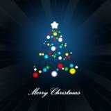 Abstracte Kerstmisboom. Stock Illustratie