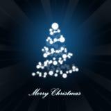 Abstracte Kerstmisboom. Vector Illustratie