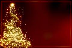 Abstracte Kerstmisboom Stock Afbeelding