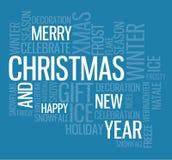 Abstracte Kerstmiskaart Stock Afbeeldingen