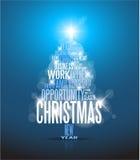 Abstracte Kerstmiskaart stock illustratie