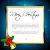 Abstracte Kerstmiskaart Royalty-vrije Stock Afbeeldingen