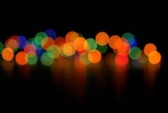 Abstracte Kerstmislichten Royalty-vrije Stock Foto