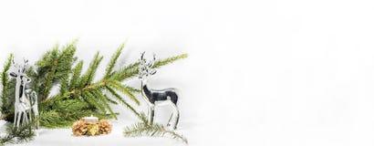 Abstracte Kerstmissamenstelling De abstractie van de winter Royalty-vrije Stock Fotografie