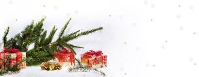 Abstracte Kerstmissamenstelling De abstractie van de winter Stock Foto's