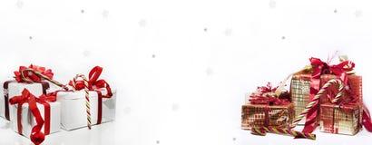 Abstracte Kerstmissamenstelling De abstractie van de winter Stock Foto