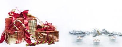 Abstracte Kerstmissamenstelling De abstractie van de winter Stock Afbeelding
