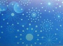 Abstracte Kerstmissneeuwvlokken en sterren als achtergrond Stock Foto