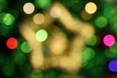 Abstracte Kerstmisster Bokeh 1 Royalty-vrije Stock Foto's