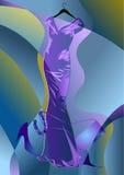Abstracte kleermakerijenkleding royalty-vrije illustratie