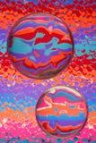 Abstracte Kleur met Glas royalty-vrije stock afbeeldingen