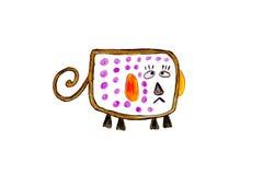 Abstracte kleur op papier Royalty-vrije Stock Fotografie