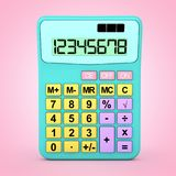 Abstracte Kleur Toy Calculator Icon het 3d teruggeven Vector Illustratie