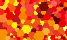 Abstracte kleuren hexagon achtergrond Royalty-vrije Stock Foto's
