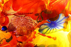 Abstracte kleuren van opgeblazen glas Stock Afbeelding