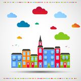 Abstracte kleurenachtergrond Stadsthema Stock Afbeelding