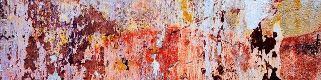 Abstracte kleurenachtergrond Uitstekende muur Stock Afbeeldingen