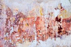 Abstracte kleurenachtergrond Uitstekende muur Stock Fotografie