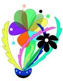 Abstracte kleurenbloem stock afbeelding