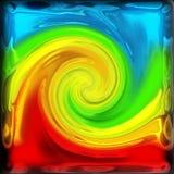 Abstracte kleurendraai vector illustratie