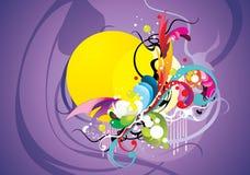 Abstracte kleurenelementensamenstelling Stock Foto's