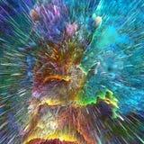 Abstracte kleurenexplosie Stock Foto's