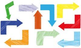 Abstracte kleurenpijlen Stock Foto's