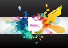 Abstracte kleurenplons Stock Afbeeldingen