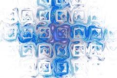 Abstracte kleurenplonsen op witte achtergrond Royalty-vrije Stock Afbeeldingen