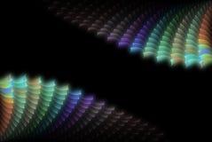 Abstracte kleurenshell achtergrond Stock Afbeelding