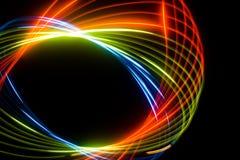 Abstracte kleurenspiraal Stock Foto's