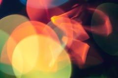 Abstracte kleurrijk defocused grote cirkels bokeh achtergrond, abstracte lichten stock afbeeldingen