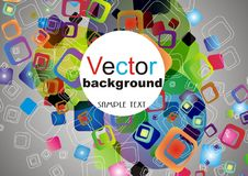 Abstracte kleurrijke achtergrond Stock Afbeeldingen