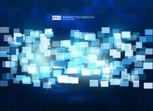 Abstracte kleurrijke achtergrond Bedrijfs Abstracte Blauwe Achtergrond Illustratie van abstracte textuur met vierkanten Patroon Stock Afbeelding