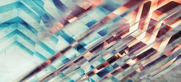 Abstracte kleurrijke achtergrond, chaotisch strepenpatroon stock illustratie
