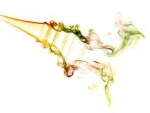 Abstracte kleurrijke achtergrond die met echte rook wordt gemaakt Stock Foto