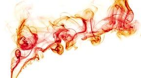 Abstracte kleurrijke achtergrond die met echte rook wordt gemaakt Royalty-vrije Stock Foto's