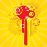 Abstracte kleurrijke achtergrond met cirkels Royalty-vrije Stock Fotografie