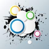 Abstracte kleurrijke achtergrond met cirkels. Stock Afbeelding