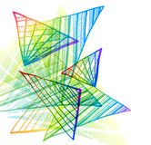 Abstracte kleurrijke achtergrond met driehoeken stock illustratie