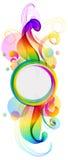 Abstracte kleurrijke achtergrond met golf Stock Afbeelding