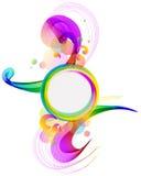 Abstracte kleurrijke achtergrond met golf Stock Foto