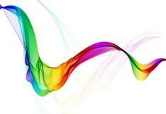 Abstracte kleurrijke achtergrond met golf stock illustratie