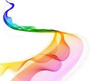 Abstracte kleurrijke achtergrond met golf royalty-vrije illustratie