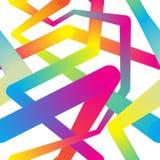 Abstracte kleurrijke achtergrond, naadloos patroon Stock Afbeelding