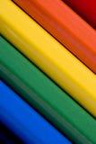 Abstracte kleurrijke achtergrond van gekleurde Potloden Stock Foto's