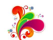 Abstracte kleurrijke artistiek explodeert vectorillustratie Stock Fotografie
