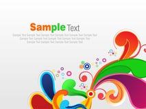 Abstracte kleurrijke artistiek explodeert vectorillustratie als achtergrond vector illustratie